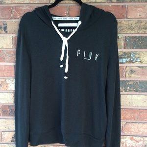 LOVE PINK Large Lightweight Black Pullover Hoodie